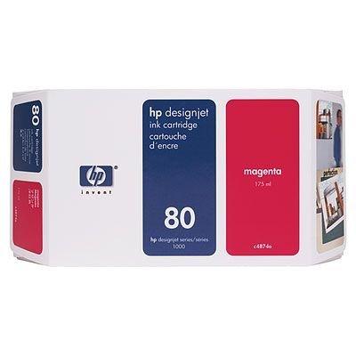 Картридж HP № 80 (C4874A) для DesignJet 1050c/1055cm 175мл, пурпуный (C4874A)Картриджи для струйных аппаратов HP<br>(Описание)<br>