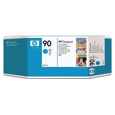 Картридж HP № 90 (C5061A) для DesignJet 4000/4500 400мл, голубой (C5061A)Картриджи для струйных аппаратов HP<br>для DesignJet 4000/4500 400мл, голубой<br>