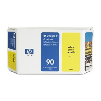 Картридж HP № 90 (C5064A) для DesignJet 4000/4500 225мл, желтый (C5064A)Картриджи для струйных аппаратов HP<br>(Описание)<br>
