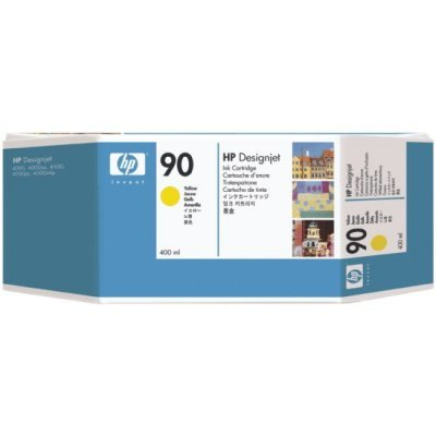 Картридж HP № 90 (C5065A) для DesignJet 4000/4500 400мл, желтый (C5065A)Картриджи для струйных аппаратов HP<br>400мл, желтый<br>