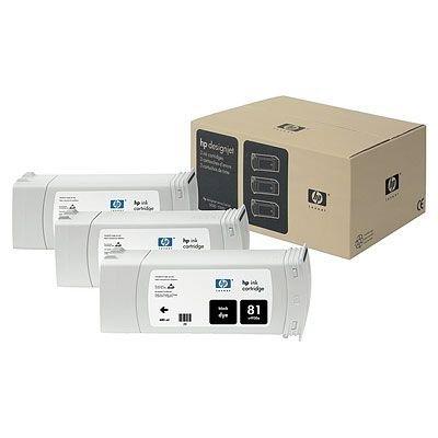 Набор картриджей HP № 81 (C5066A)  3 шт. 680мл, черный (C5066A) вакуумный массажер gezatone вакуумный массажер