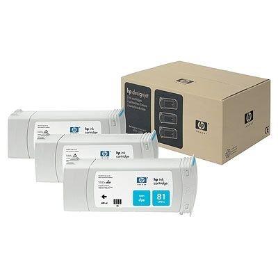 Набор картриджей HP № 81 (C5067A) 3 шт. 680мл, голубой (C5067A)Картриджи для струйных аппаратов HP<br>для DesignJet 5000/5500,<br>