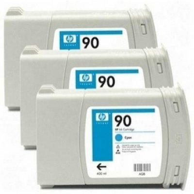 Набор картриджей HP № 90 (C5083A) голубой (C5083A)Картриджи для струйных аппаратов HP<br>для DesignJet 4000/4500, 3 шт, 400мл<br>