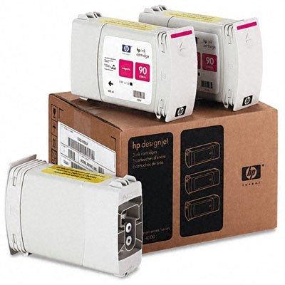 Набор картриджей HP № 90 (C5084A) пурпурный (C5084A)Картриджи для струйных аппаратов HP<br>для DesignJet 4000/4500, 3 шт, 400мл,<br>