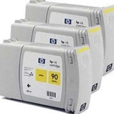 Набор картриджей HP № 90 (C5085A)  желтый (C5085A)Картриджи для струйных аппаратов HP<br>для DesignJet 4000/4500, 3 шт, 400мл,<br>