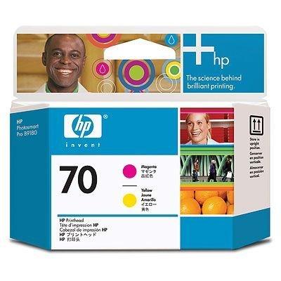 Печатающая головка HP № 70 (C9406A) пурпурная и жёлтая (C9406A)Печатающие головки HP<br>Печатающие головки HP №70 Пурпурная и жёлтая. Для Z3100/ Z2100/ T1120/ Z3200/ B8850/ B9180<br>