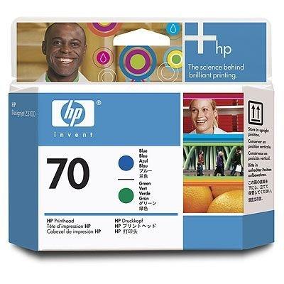 Печатающая головка HP № 70 (C9408A) голубая и зеленая (C9408A)Печатающие головки HP<br>Для Z3100/ Z2100/ T1120/ Z3200/ B8850/ B9180<br>