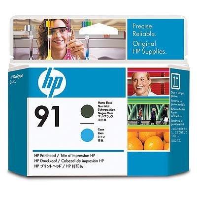 Печатающая головка HP № 91 (C9460A)  для DesignJet Z6100, матовая черная и голубая (C9460A)Печатающие головки HP<br>для DesignJet Z6100, матовая черная и голубая<br>