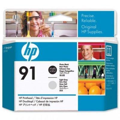 Печатающая головка HP № 91 (C9463A) для DesignJet Z6100, черная и светло-серая (C9463A) цена и фото