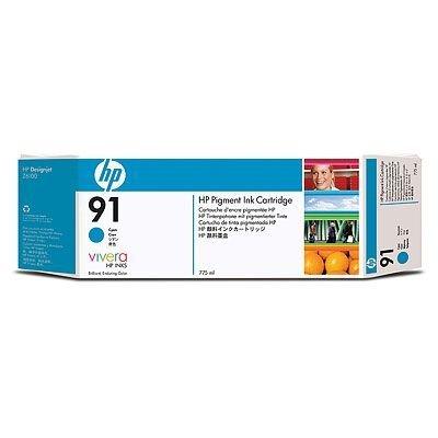Картридж HP № 91 (C9467A) для DesignJet Z6100, 775мл, голубой (C9467A)Картриджи для струйных аппаратов HP<br>(Описание)<br>