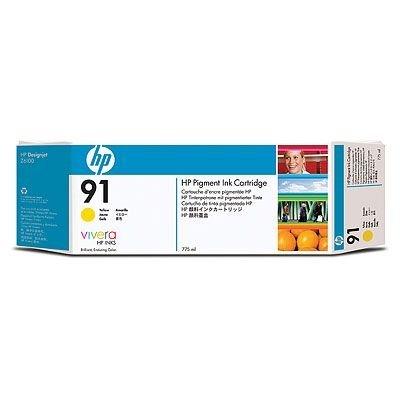 Картридж HP № 91 (C9469A)  желтый (C9469A)Картриджи для струйных аппаратов HP<br>для DesignJet Z6100, 775мл, желтый<br>