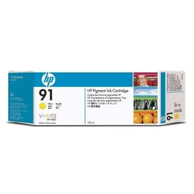 цены  Набор картриджей HP № 91 (C9485A) 775мл, 3 шт, желтый (C9485A)