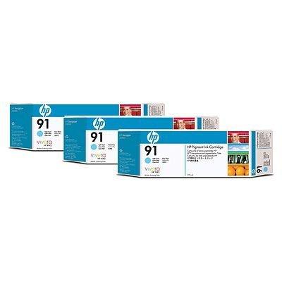Набор картриджей HP № 91 (C9486A) 775мл, 3 шт, светло-голубой (C9486A)Картриджи для струйных аппаратов HP<br>Совместим с : Фотопринтер HP Designjet Z6100 1067 мм (Q6651A)<br>Фотопринтер HP Designjet Z6100 1524 мм (Q6652A)<br>Фотопринтер HP Designjet Z6100ps 1067 мм (Q6653A)<br>