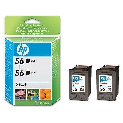 Картридж HP № 56 (C9502AE)  2 штуки черный (C9502AE)Картриджи для струйных аппаратов HP<br>двойная упаковка, черный<br>