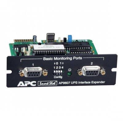 Плата APC 2-Port Serial Interface Expander SmartSlot Card (AP9607) (AP9607)Модули расширения APC<br>Функция завершения работы нескольких систем предусматривает надежное информационное взаимодействие ИБП со всеми подключенными к нему серверами и безопасное автоматическое завершение их работы в случае продолжительного отключения электроснабжения.<br>