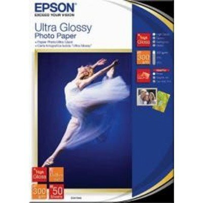 Бумага EPSON (C13S041944) Ultra Glossy Photo Paper 13x18, 300г/м2, бумага 50листов (C13S041944) процессор amd a8 7500 3 0ghz 2mb ad7500ybi44ja socket fm2 oem