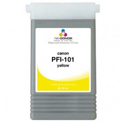 Чернильница Canon (0886B001)  PFI-101Y желтая (0886B001)Картриджи для струйных аппаратов Canon<br>для IPF5000/6000 130ml<br>