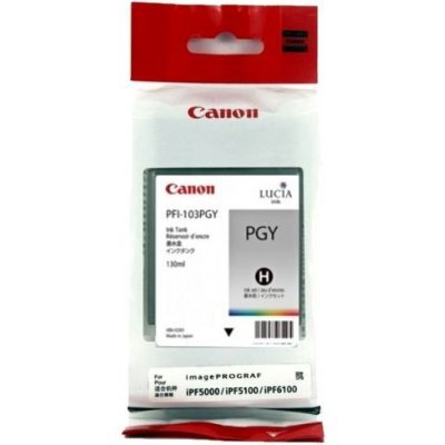 Картридж (2214B001) Canon PFI-103PGY фото серый (2214B001)Картриджи для струйных аппаратов Canon<br>для плоттера Canon IPF-5100/6100 (130 мл) фото серый<br>