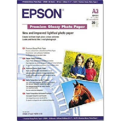 Бумага (C13S041315) Epson Premium Glossy Photo Paper A3 (C13S041315) бумага для принтера epson a4 premium glossy photo paper 50 sheets