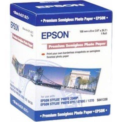 Бумага (C13S041330) EPSON Premium SemiglossPhoto Paper 100 мм х 8 м (C13S041330), арт: 50550 -  Бумага для принтера Epson