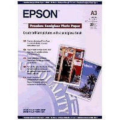 Бумага (C13S041334) EPSON Premium Semiglossy Photo Paper , A3, 20 л (C13S041334), арт: 50551 -  Бумага для принтера Epson