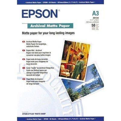 Бумага (C13S041344) Epson Archival Matte Paper (A3) (C13S041344) бумага для принтера hp superheavyweight plus matte paper q6630b q6630b