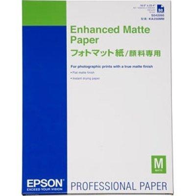 Бумага (C13S042095) Epson Enhanced Matte Paper A2 (25s) (C13S042095)Бумага для плоттеров Epson<br>Ярко-белая матовая высококачественная бумага с улучшенным цветовым охватом. Для печати фотографий, художественных работ, репродукций.<br>