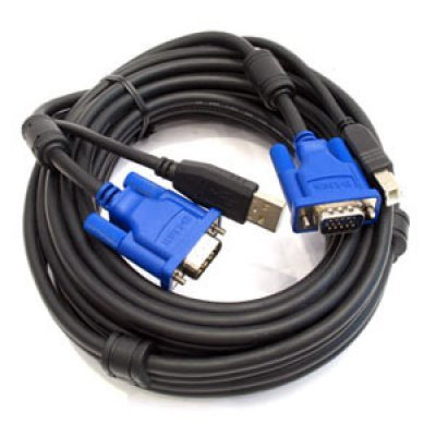 Кабель D-Link DKVM-CU5, Cable for KVM Products, 2 in 1 USB KVM Cable, 5m (15ft) / DKVM-CU5 (DKVM-CU5) 1 5m kvm m m data cable