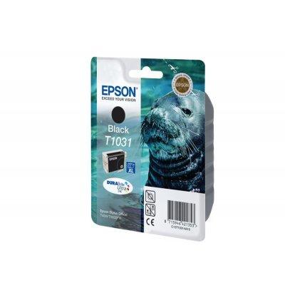 Картридж (C13T10314A10) EPSON T1031 для Stylus TX550W/ Office T30/T40W/TX600FW черный (C13T10314A10)Картриджи для струйных аппаратов Epson<br>Картридж экстраповышенной емкости с черными чернилами ( Емкость 25.9 мл  )<br>для Stylus TX550W/ Office T30/T40W/TX600FW<br>