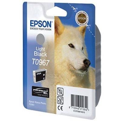 Картридж (C13T09674010) EPSON T0967 для Stylus Photo R2880 светло-черный (C13T09674010)Картриджи для струйных аппаратов Epson<br>светло-черный<br>