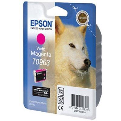 Картридж (C13T09634010) EPSON T0963 для Stylus Photo R2880 фото пурпурный (C13T09634010)Картриджи для струйных аппаратов Epson<br>фото пурпурный<br>