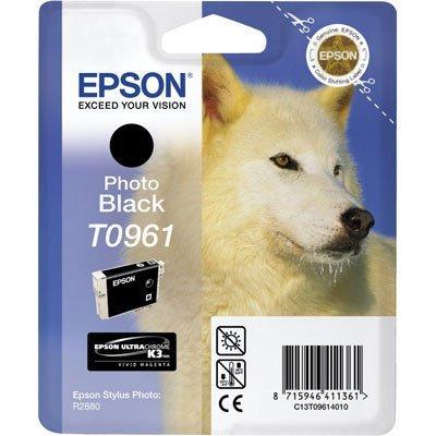 Картридж (C13T09614010) EPSON T0961 для Stylus Photo R2880 фото-черный (C13T09614010)Картриджи для струйных аппаратов Epson<br>фото-черный<br>