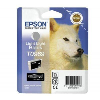 Картридж (C13T09694010) EPSON T0969 для Stylus Photo R2880 светло-светло-черный (C13T09694010)Картриджи для струйных аппаратов Epson<br>светло-светло-черный<br>