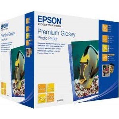 цены  Бумага (C13S042199) EPSON Premium Glossy Photo Paper 13x18 см, 500 л (C13S042199)