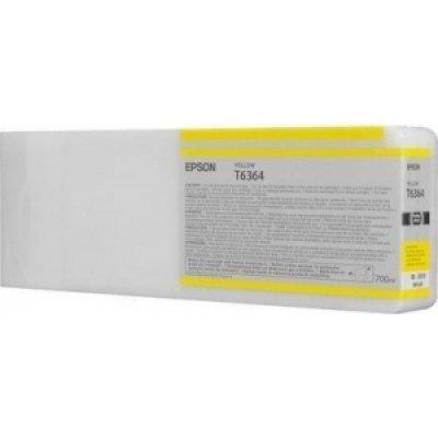 Картридж (C13T636400) EPSON для Stylus Pro 7900/9900 (700 мл) желтый (C13T636400) принтер струйный epson l312