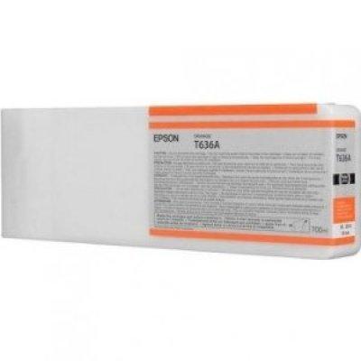 Картридж (C13T636A00) EPSON для Stylus Pro 7900/9900 (700 мл) оранжевый (C13T636A00)Картриджи для струйных аппаратов Epson<br>700 мл оранжевый<br>