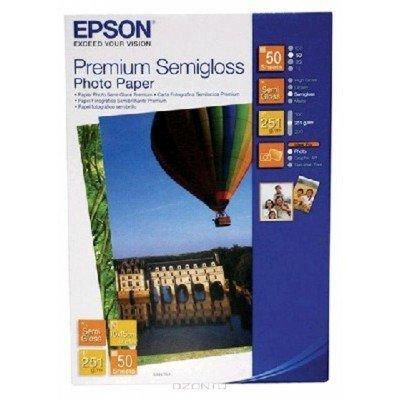 Бумага (C13S041765) EPSON Premium Semiglossy Photo Paper, 10 см х 15 см, 50 л (C13S041765)