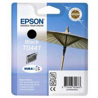 Картридж (C13T04414010) EPSON T0441 для Stylus C84/C86/CX3600/CX6600 черный (C13T04414010)Картриджи для струйных аппаратов Epson<br>для Epson Stylus C64/ C84/ C86/ CX3600/ CX3650/ CX6400/ CX6600<br>