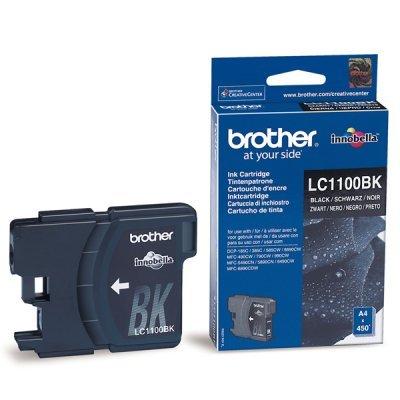 Картридж (LC1100BK) Brother LC-1100BK чёрный (LC1100BK)Картриджи для струйных аппаратов Brother<br>Струйный картридж для DCP385С/990CW/6690CW. Чёрный, (до 450 страниц формата A4 в соответствии со стандартом ISO/IEC 24711)<br>