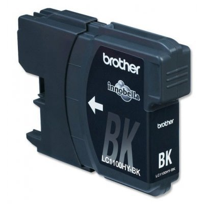 Картридж (LC1100HYBK) Brother LC-1100HYBK чёрный (LC1100HYBK)Картриджи для струйных аппаратов Brother<br>Струйный картридж для DCP385С/6690CW. Чёрный, (до 900 страниц формата A4 в соответствии со стандартом ISO/IEC 24711)<br>