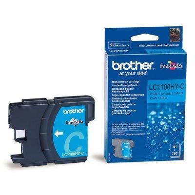 Картридж (LC1100HYC) Brother LC-1100HYC голубой (LC1100HYC)Картриджи для струйных аппаратов Brother<br>Струйный картридж для DCP385С/6690CW. Голубой, (до 750 страниц формата A4 в соответствии со стандартом ISO/IEC 24711)<br>