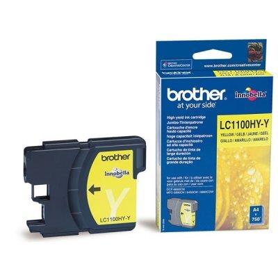 Картридж (LC1100HYY) Brother LC-1100HYY жёлтый (LC1100HYY)Картриджи для струйных аппаратов Brother<br>Струйный картридж для DCP385С/6690CW.. Жёлтый, (до 750 страниц формата A4 в соответствии со стандартом ISO/IEC 24711)<br>