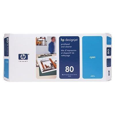 Печатающая головка HP № 80 (C4821A) голубая (C4821A)Печатающие головки HP<br>для принтеров DsgJ 1000 серии, в комплекте с очистителем<br>