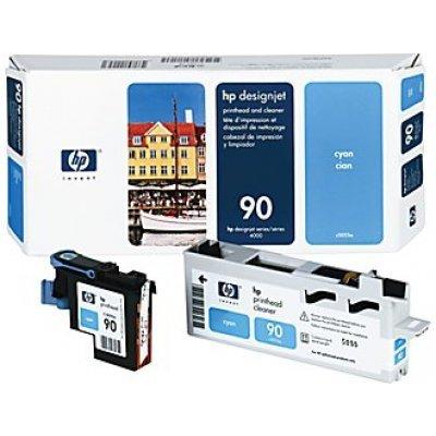 Печатающая головка HP № 90 (C5055A) голубая (C5055A)Печатающие головки HP<br>HP № 90 Желтая печатающая головка с устройством очистки для принтеров Designjet 4000 серии.<br>
