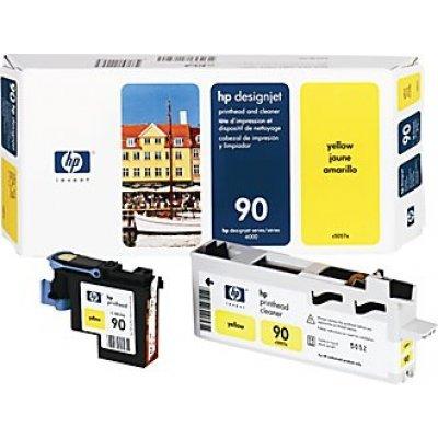 Печатающая головка HP № 90 (C5057A) желтая (C5057A)Печатающие головки HP<br>HP № 90 Желтая печатающая головка с устройством очистки для принтеров Designjet 4000 серии.<br>