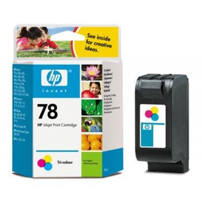 Картридж HP № 78 (C6578D) трехцветный (C6578D)Картриджи для струйных аппаратов HP<br>19 мл. для принтеров HP DJ 9x0/1220C/PhotoSmart P1000/P1100/1215/1218<br>