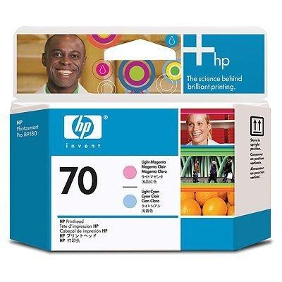 Печатающая головка HP № 70 (C9405A) (C9405A)Печатающие головки HP<br>Печатающие головки HP №70 (светло-голубая и светло-пурпурная) для Designjet Z2100/Z3100. Photosmart Pro B9100<br>