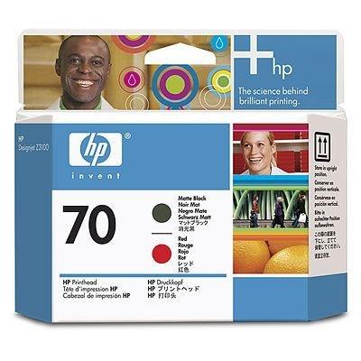 Печатающая головка HP № 70 (C9409A) (C9409A)Печатающие головки HP<br>HP Матовая чёрная и красная печатающая головка HP 70  Для Z3100/ Z2100/ T1120/ Z3200/ B8850/ B9180<br>