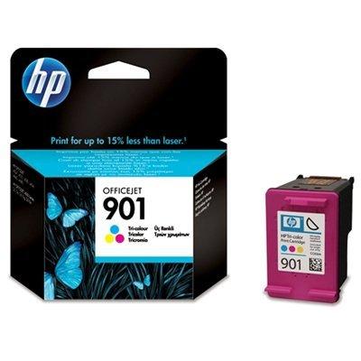 Картридж HP № 901 (CC656AE) цветной (CC656AE)Картриджи для струйных аппаратов HP<br>Голубой, пурпурный, жёлтый. 360 страниц<br>