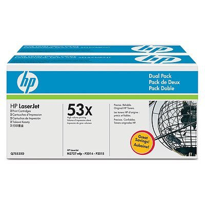 Картридж HP (Q7553XD) двойная упаковка (Q7553XD) cs 7553xu toner laserjet printer laser cartridge for hp q7553x q5949x q7553 q5949 q 7553x 7553 5949x 5949 53x 49x bk 7k pages